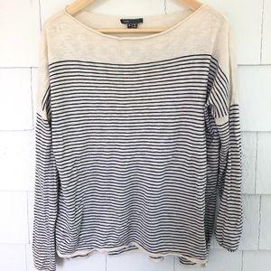 Vince Stripe Cotton Sweater